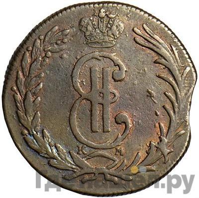 Аверс 2 копейки 1769 года КМ Сибирская монета