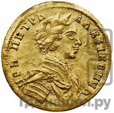 Аверс Червонец 1713 года D-L-G