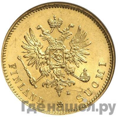 Реверс 20 марок 1911 года L Для Финляндии