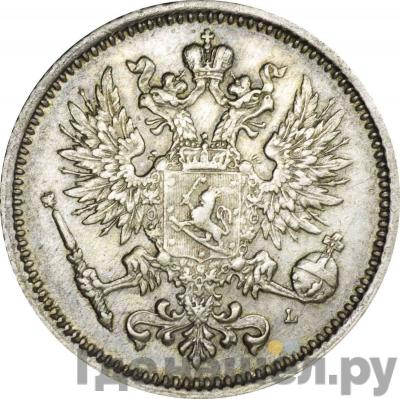 50 пенни 1890 года L Для Финляндии