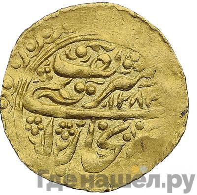 Аверс Тилля 1866 года Бухара 1283 год хиджры