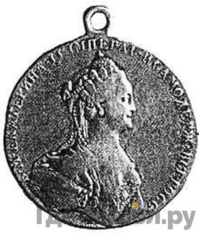 """Аверс Медаль 1771 года  """"За оказанные в войске заслуги"""""""