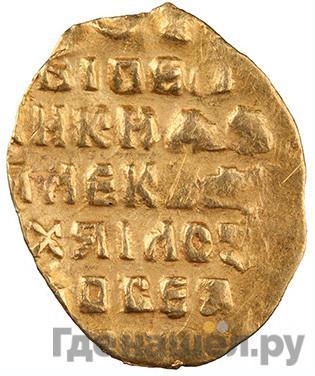 Аверс Жалованный золотой 1654 года Алексей Михайлович С указанием даты 1/4 угорского