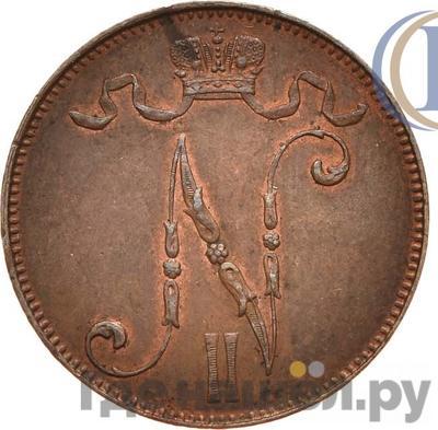 Реверс 5 пенни 1899 года Для Финляндии