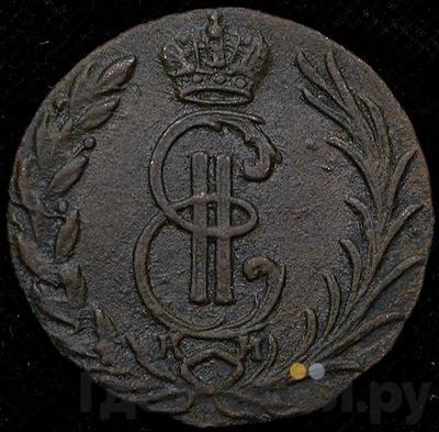 Аверс Денга 1774 года КМ Сибирская монета