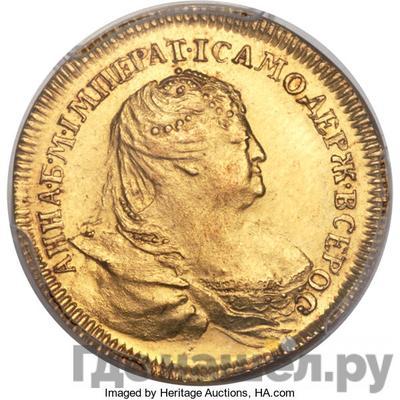Аверс Жетон 1739 года  в память заключения мира с Турцией