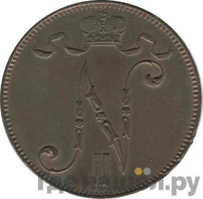 Реверс 5 пенни 1912 года Для Финляндии
