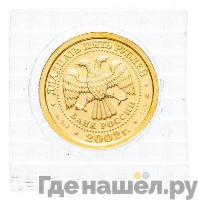Реверс 25 рублей 2002 года ММД