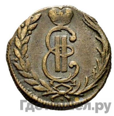 Аверс 1 копейка 1771 года КМ Сибирская монета