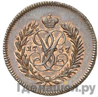 Аверс Полушка 1757 года