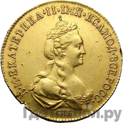 Аверс 5 рублей 1778 года СПБ