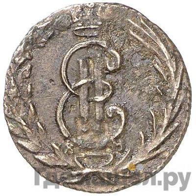 Аверс Полушка 1770 года КМ Сибирская монета
