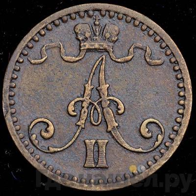 1 пенни 1866 года  Для Финляндии