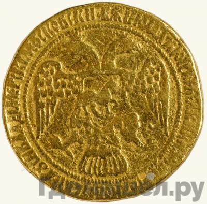 Аверс Жалованный золотой 1605 года  - 1606 Дмитрий Иванович Лжедмитрий 1