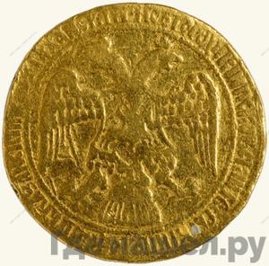 Реверс Жалованный золотой 1605 года  - 1606 Дмитрий Иванович Лжедмитрий 1