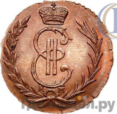 Аверс Денга 1766 года КМ Сибирская монета