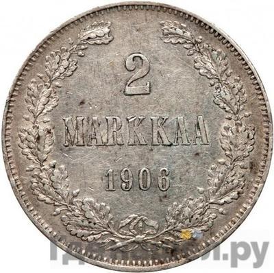 Аверс 2 марки 1906 года L Для Финляндии
