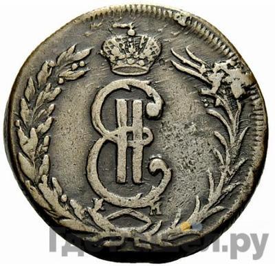 Аверс 2 копейки 1772 года КМ Сибирская монета