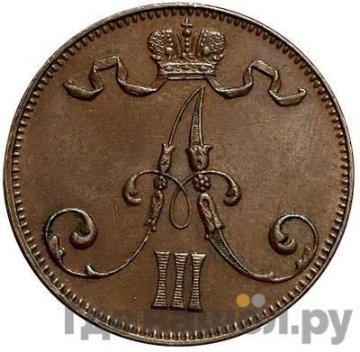 5 пенни 1892 года  Для Финляндии