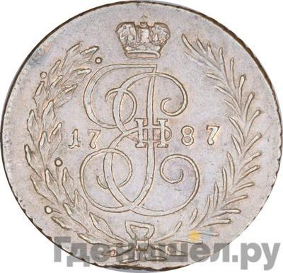 Аверс 1 копейка 1787 года ТМ Пробная
