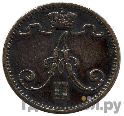 Реверс 1 пенни 1876 года  Для Финляндии