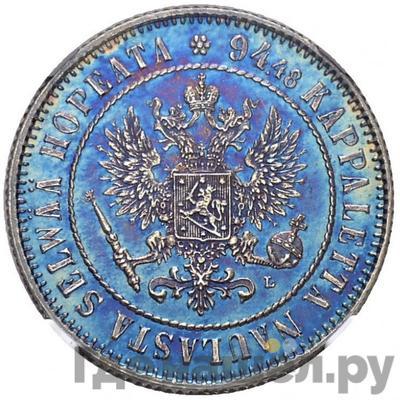 Реверс 1 марка 1892 года L Для Финляндии
