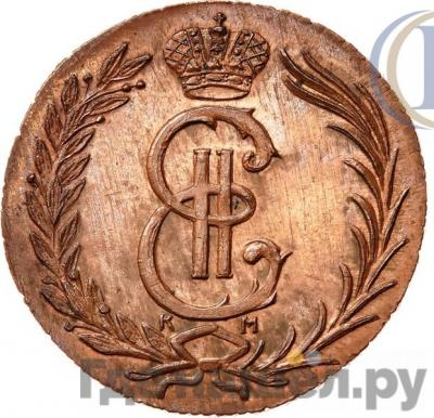 Аверс 2 копейки 1774 года КМ Сибирская монета