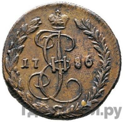Аверс Денга 1786 года КМ