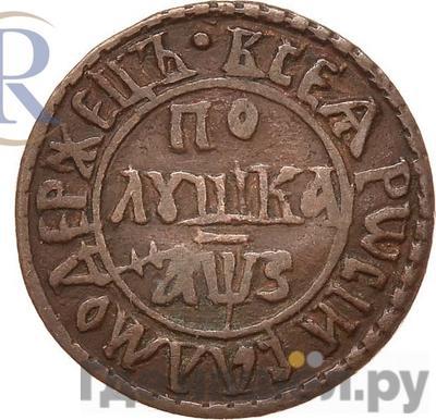 Аверс Полушка 1707 года