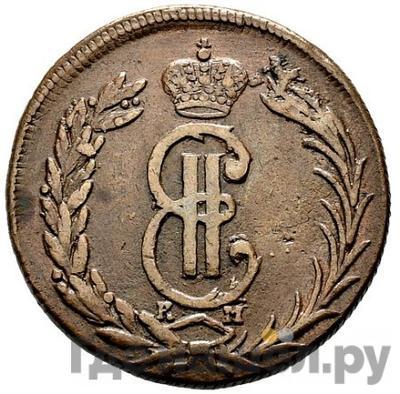 Аверс 2 копейки 1773 года КМ Сибирская монета