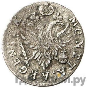 Реверс 2 гроша 1760 года  Для Пруссии Хвост орла узкий