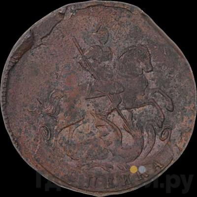 Реверс 1 копейка 1759 года