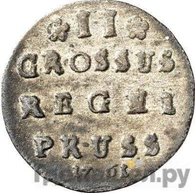 Аверс 2 гроша 1761 года Для Пруссии
