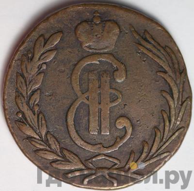 Аверс 1 копейка 1766 года  Сибирская монета Без обозначения монетного двора