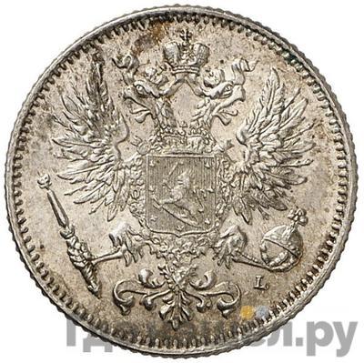 Реверс 50 пенни 1908 года L Для Финляндии
