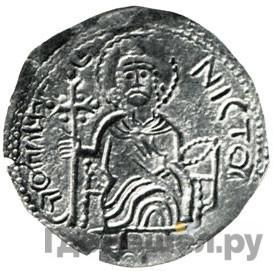 Сребренник 1015 года  - 1018 Святополк Владимирович Апостол Петр