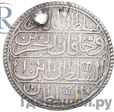 Реверс Пиастр 1796 года  Для Турции. Реверс: 7-ой год правления