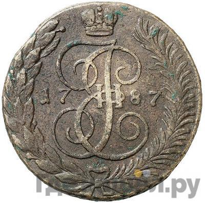 Аверс 5 копеек 1787 года ТМ