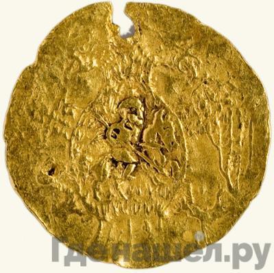 Аверс Жалованный золотой 1533 года  - 1584 Иван IV Грозный Легенда    1/2 угорского