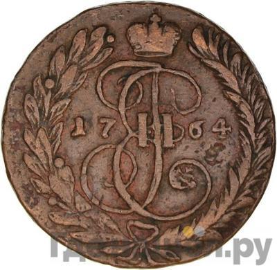 Аверс 2 копейки 1764 года ММ