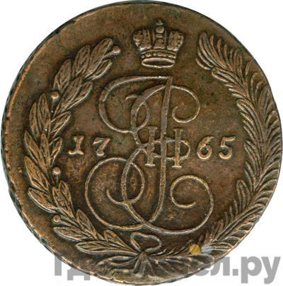 Аверс 5 копеек 1765 года