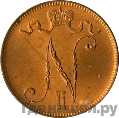 Аверс 5 пенни 1905 года Для Финляндии