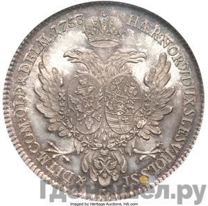 Реверс Альбертусталер 1753 года S P Для немецкого княжества