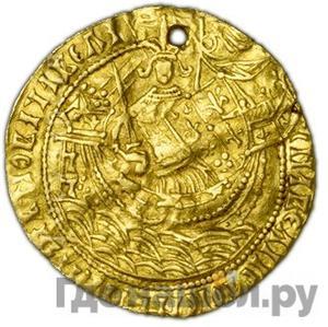 Аверс Корабельник 1462 года  - 1505 Иван III Васильевич. Аверс: Подражание ноблю