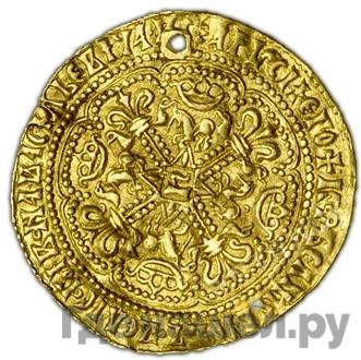 Реверс Корабельник 1462 года  - 1505 Иван III Васильевич. Аверс: Подражание ноблю