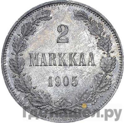 Аверс 2 марки 1905 года L Для Финляндии