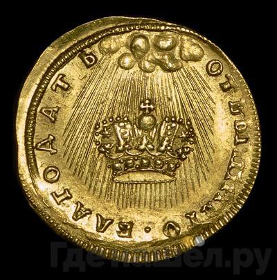 Аверс Жетон 1742 года  в память коронации Елизаветы 1