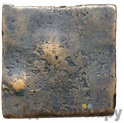 Реверс Гривна 1726 года  Медная плата