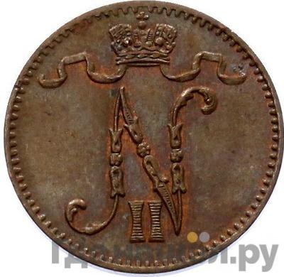 Реверс 1 пенни 1905 года Для Финляндии