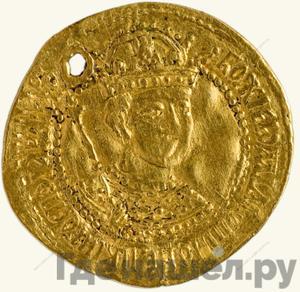 Аверс Жалованный золотой 1589 года  - 1605 Борис Федорович